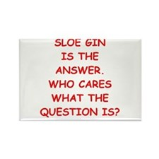 sloe gin Rectangle Magnet