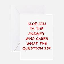 sloe gin Greeting Card