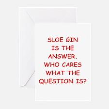 sloe gin Greeting Cards (Pk of 10)