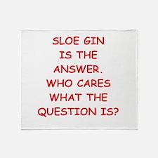 sloe gin Throw Blanket