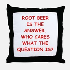 root beer Throw Pillow