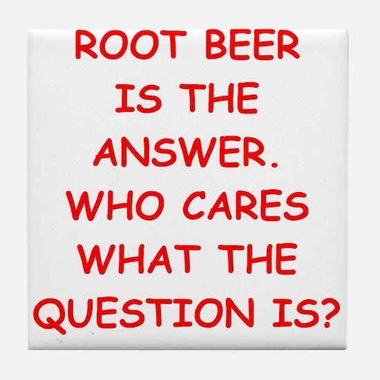 root beer Tile Coaster