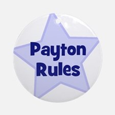 Payton Rules Ornament (Round)
