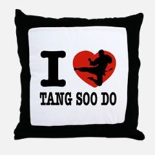 I love Tang Soo Do Throw Pillow