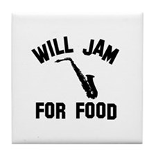 Will jam or play the Alto Saxophone for food Tile