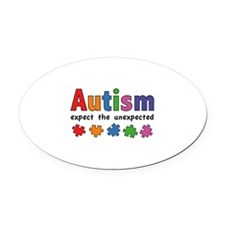 Autism Expect the unexpected Oval Car Magnet