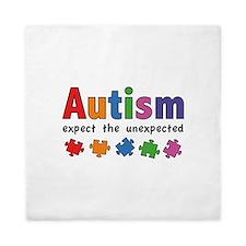 Autism Expect the unexpected Queen Duvet