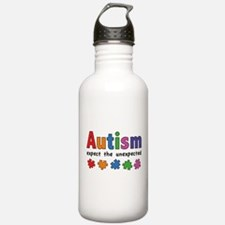 Autism Expect the unexpected Water Bottle