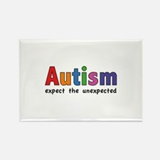 Autism Expect the unexpected Rectangle Magnet