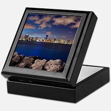 Miami Night Skyline Keepsake Box