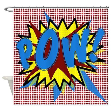 POW! Superhero Explosion Shower Curtain