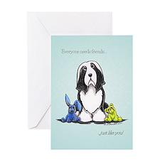 Friend Like You Beardie Greeting Card