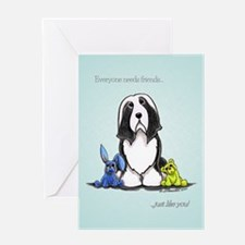 Friend Like You Beardie Greeting Card