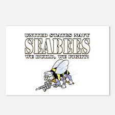 USN Navy Seabees Bee Postcards (Package of 8)