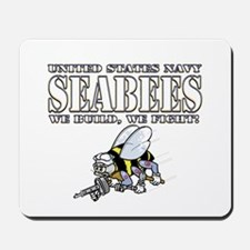 USN Navy Seabees Bee Mousepad