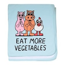 Eat more vegetables baby blanket