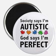 """God Says I'm Perfect 2.25"""" Magnet (10 pack)"""
