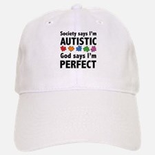 God Says I'm Perfect Baseball Baseball Cap