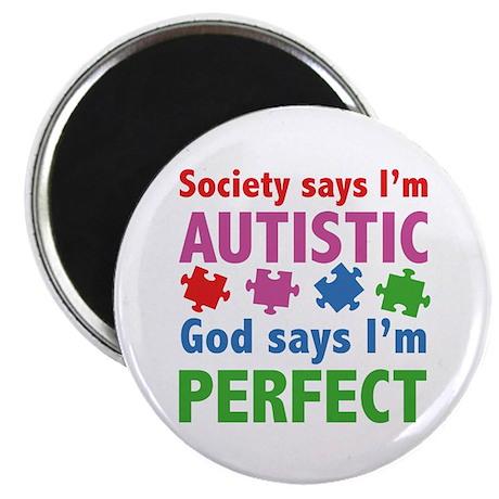 """God Says I'm Perfect 2.25"""" Magnet (100 pack)"""