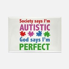 God Says I'm Perfect Rectangle Magnet (10 pack)