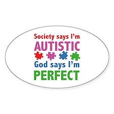 God Says I'm Perfect Decal
