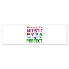 God Says I'm Perfect Bumper Sticker