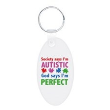 God Says I'm Perfect Keychains