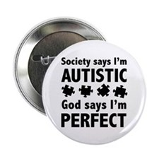 """God Says I'm Perfect 2.25"""" Button"""