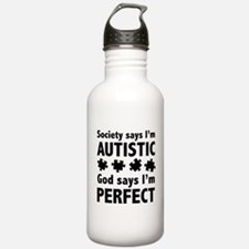God Says I'm Perfect Water Bottle