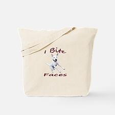 JRT I bite faces Tote Bag