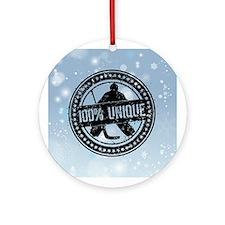 100% Unique, Hockey Goalie Ornament (Round)