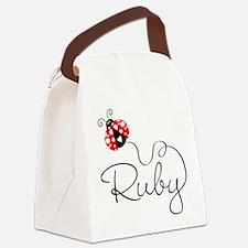 Ladybug Ruby Canvas Lunch Bag