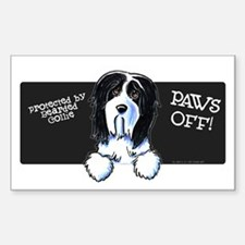 Beardie Protected PAWS OFF Decal