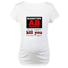 AB Positive Blood Type Dirt Bike Motocross Shirt M