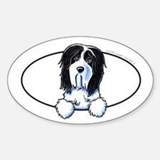 Bearded Collie Peeking Bumper Decal