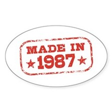 Made In 1987 Decal