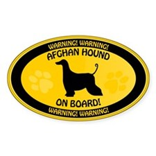 Afghan On Board Decal