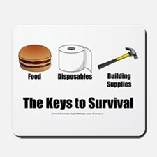 Keys to Survival Mousepad