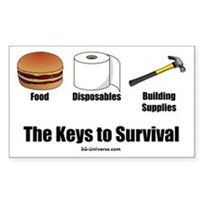 Keys to Survival Rectangle Decal