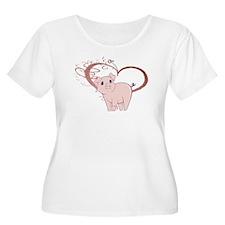 Cute Piggy Art Plus Size T-Shirt