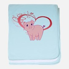 Cute Piggy Art baby blanket