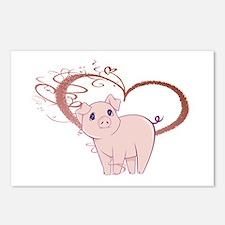 Cute Piggy Art Postcards (Package of 8)