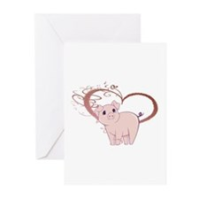 Cute Piggy Art Greeting Cards (Pk of 20)
