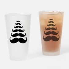 Merry Moustache Drinking Glass