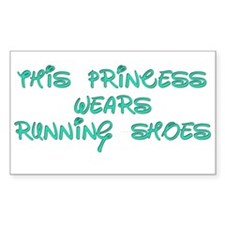 This Princess Wears Running Shoes Bumper Stickers