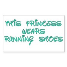 This Princess Wears Running Shoes Stickers