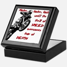 Faster Dirt Bike Motocross Quote Saying Keepsake B
