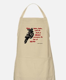 Faster Dirt Bike Motocross Quote Saying Apron