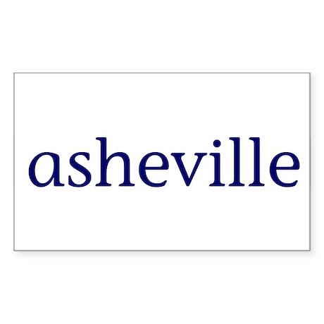 Asheville Rectangle Sticker