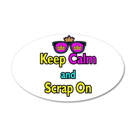 Crown Sunglasses Keep Calm And Scrap On 35x21 Oval